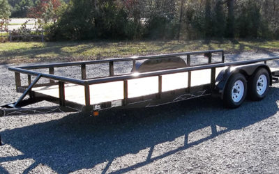 D & P Medium Duty Pipe Top Series Utility Trailer