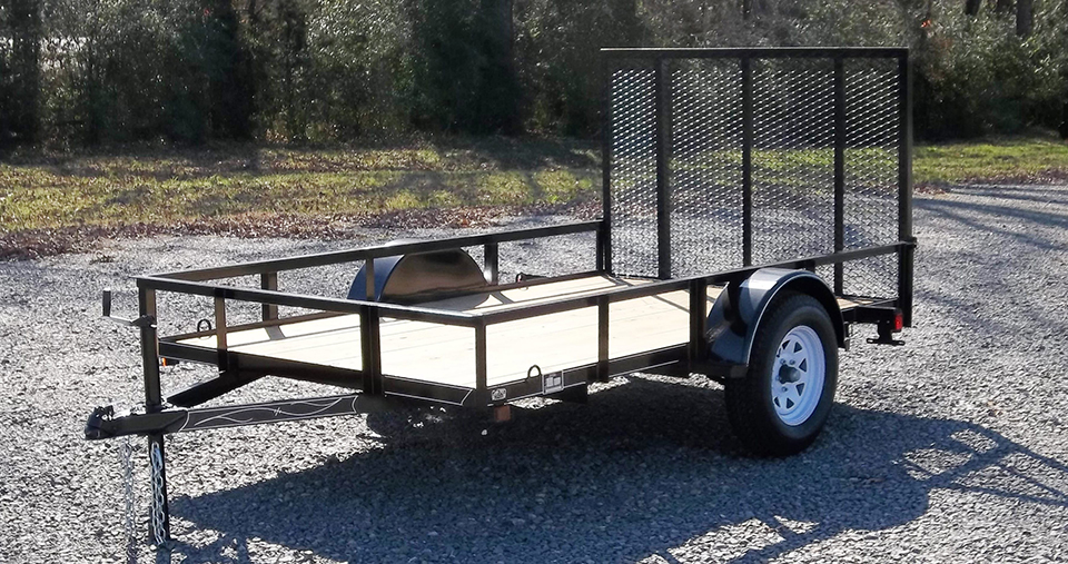 D & P Single Axle Series Utility Trailer
